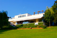 Functionalist villa Tugenthat in Brno in the Czech Republic. Europe Stock Photos