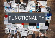 Functionality Digital Computer System Practical Concept. Business Functionality Digital Computer Concept Stock Photos