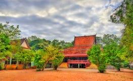 Functioning Temple at Angkor Wat in Siem Reap, Cambodia Stock Photo
