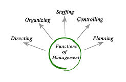 Functions of Management. Diagram of functions of Management Royalty Free Stock Images