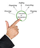 Functions of Management. Diagram of functions of Management Stock Photography