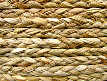 Fund braids straw horizontally Stock Photo