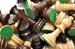 Fund chess pieces Royalty Free Stock Photography