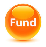 Fund glassy orange round button Royalty Free Stock Images