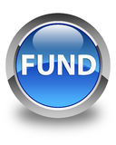 Fund glossy blue round button Royalty Free Stock Photography