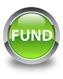 Fund glossy green round button Royalty Free Stock Photos