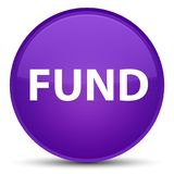 Fund special purple round button Stock Images