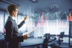 Fund management and economy concept stock image