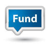 Fund prime blue banner button. Fund isolated on prime blue banner button abstract illustration Royalty Free Stock Photos