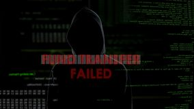 Fund transfer failed, unsuccessful attempt to steal money from bank account. Stock footage stock video footage
