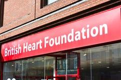 Fundação britânica do coração imagem de stock royalty free