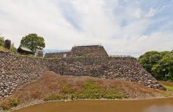 A fundação do cano principal mantém-se do castelo de Yamato Koriyama, Japão Fotografia de Stock