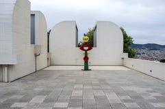 Fundação exterior de Joan Miro, construindo por Josep Lluis Sert, parque, fotos de stock royalty free