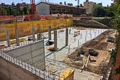 Fundações da construção Fotos de Stock Royalty Free