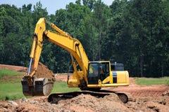 Fundações de escavação da máquina escavadora Fotos de Stock Royalty Free