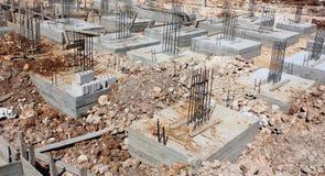 Fundações do concreto reforçado imagens de stock royalty free