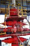Funda para fora o Preventer (BOP) para a plataforma petrolífera da perfuração imagens de stock