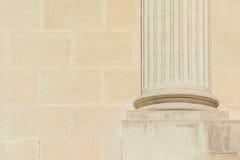 Fundación baja de Roman Column Imagenes de archivo
