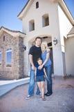 Fundación de una familia un nuevo hogar (bajo construcción) Fotografía de archivo