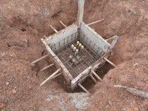 Fundación del hormigón prefabricado en Tailandia Foto de archivo