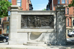 Fundadores conmemorativos en el campo común en Boston, los E.E.U.U. Fotos de archivo libres de regalías