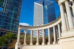 Fundadores de Chicago del parque del milenio Imagen de archivo libre de regalías