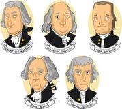 Fundadores de Estados Unidos da América ilustração royalty free