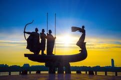Fundadores del monumento de Kiev Foto de archivo