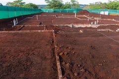 Fundações da construção de casa Fotografia de Stock