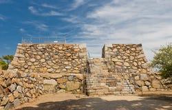 Fundament av den huvudsakliga uppehället av den Takamatsu slotten, Japan Arkivfoton