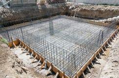 Fundament av ett nytt hus Royaltyfria Foton