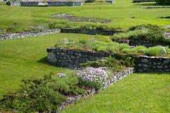 Fundament av Stet Michael & x27en; s-kapell och Stanislaw Borek House Royaltyfria Foton
