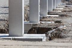 Fundament på en konstruktionsplats arkivbilder