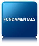 Fundamentals blue square button Royalty Free Stock Photos
