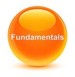 Fundamentals glassy orange round button Royalty Free Stock Photo