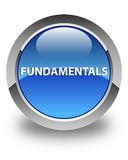 Fundamentals glossy blue round button Stock Photography