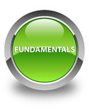 Fundamentals glossy green round button Royalty Free Stock Photos