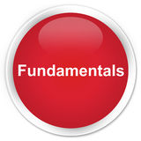 Fundamentals premium red round button Royalty Free Stock Images