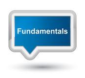 Fundamentals prime blue banner button Stock Photo