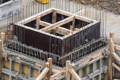 Fundamentbyggnad av stål och betong Royaltyfria Foton
