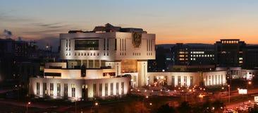 Fundamentele Bibliotheek op de Universiteit van de Staat van Moskou stock foto's