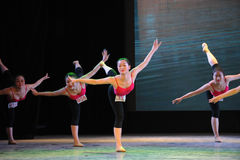 Fundamentele vaardigheid-basis de dans trainingscursus van het lichaams op:leiden-klassieke ballet Royalty-vrije Stock Foto's