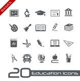 Fundamentos de // de los iconos de la educación Foto de archivo libre de regalías