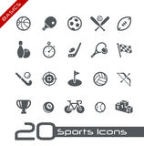 Fundamentos de // de los iconos de los deportes ilustración del vector