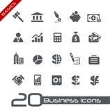 Fundamentos de // de los iconos del asunto y de las finanzas Imagen de archivo libre de regalías