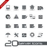 Fundamentos de // de los iconos del servidor Fotografía de archivo libre de regalías