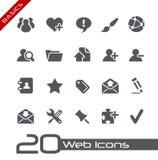 Fundamentos de // de los iconos del Web Imágenes de archivo libres de regalías