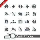 Fundamentos de // de los iconos del Web Imagenes de archivo