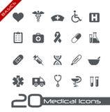 Fundamentos médicos de // de los iconos Fotos de archivo