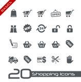 Fundamentos Sopping de // de los iconos Imagen de archivo libre de regalías